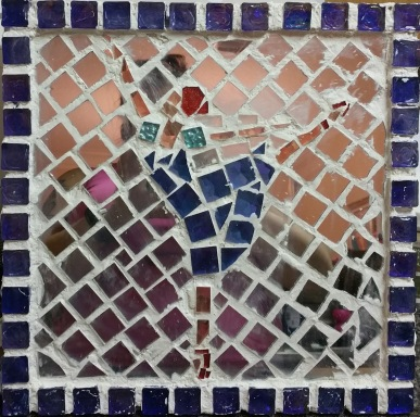 Glass Mosaic Mirror Dancer