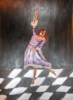 Dancer in lavender dress