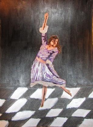 Dancer in lavender dress